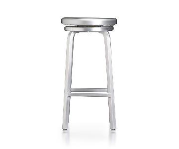Crate & Barrel Spin Swivel Backless Bar Stools