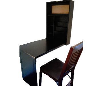 Wall Desk & Folding Chair