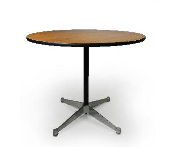 Herman Miller EamesWwood Aluminum Group Table