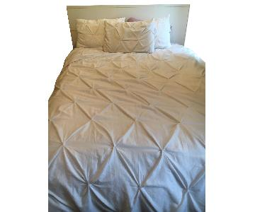 White Queen Size Bed Frame w/ Headboard