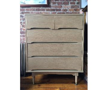 Vintage Modern Solid Wood 4 Drawer Dresser