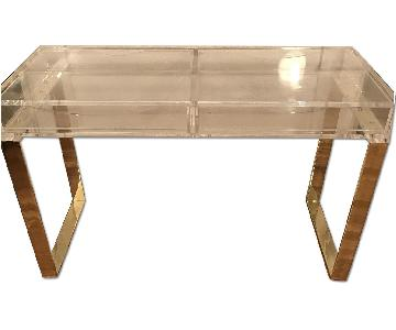 Lucite & Gold Desk