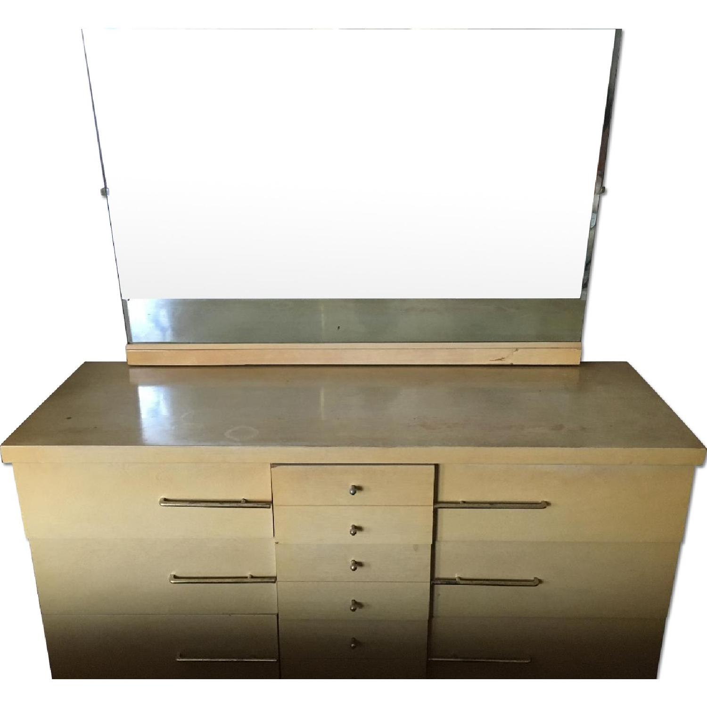 Vintage Modern 6-Drawer Dresser w/ Detachable Mirror