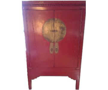Antique circa 19th Century Chinese Wedding Chest/Armoire