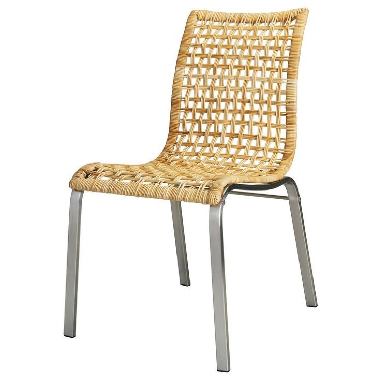 Ikea Nandor Wicker & Metal Dining Chairs