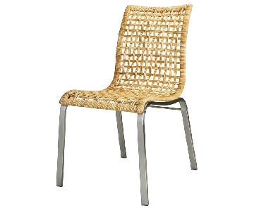 Ikea Nandor Wicker & Metal Dining Chairs - Set of 4
