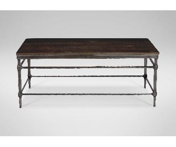 Ethan Allen Vida Oak Coffee Table