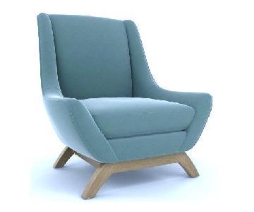 Dwell Studio Mid Century Jensen Chair in Knoll Fabric