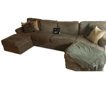 Raymour & Flanigan Sectional Sofa w/ 2 Chaises