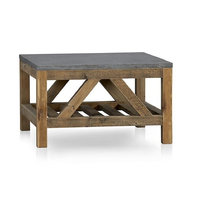 Crate & Barrel Bluestone Square Coffee Table