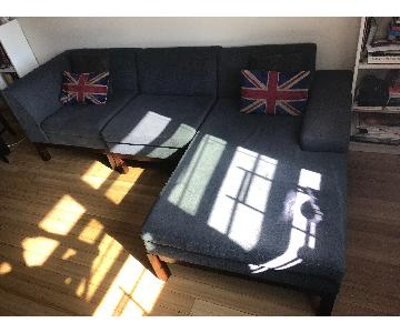 3 Piece Sectional Sofa w/ Chaise Lounge