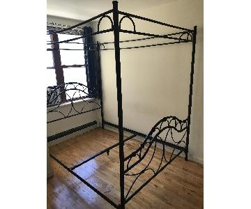 Queen Sized Canopy Bed Frame
