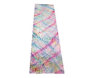Multicolored Overdyed Runner Rug