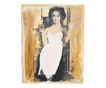 Patrick McCarthy's Painting - Elizabeth Taylor