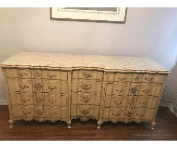 Vintage French Provincial Shabby Chic 12 Drawer Dresser