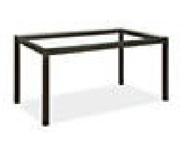 Room & Board Parsons Glass Top Dining Table