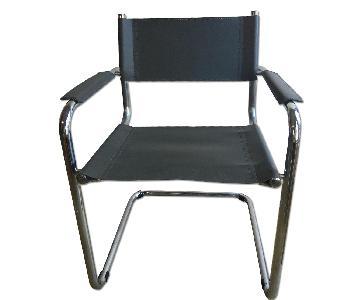 Mart Stam Bauhaus Mid Century Chrome Dining Chairs