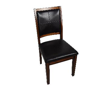 Raymour & Flanigan Wood & Leather Dining Chair