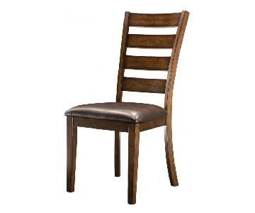 Raymour & Flanigan Kona Wood Dining Chairs