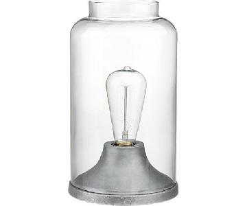 CB2 Cloche Glass Table Lamps