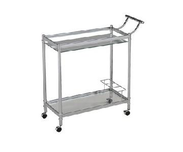 Ellery Glass & Metal Bar Cart