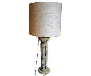 Danish Modern White Marble Lamp