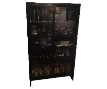 Room & Board Wood Storage Cabinet