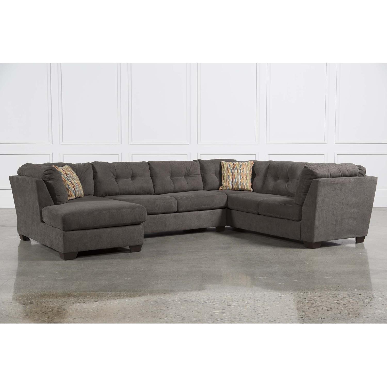 Living Spaces Delta City Sleeper Sectional Sofa - AptDeco