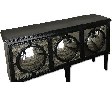 Contemporary Sideboard w/ Mirrored Doors