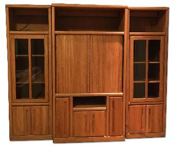 Contemporary Pine Wall Unit