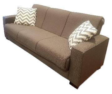 Gray Futon w/ 2 Pillows