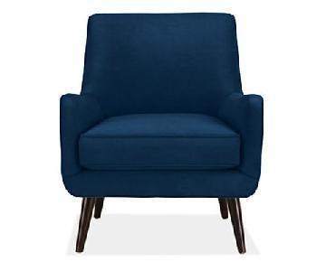Room & Board Quinn Chair in Indigo Velvet