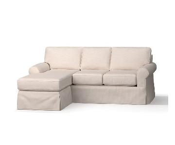 Pottery Barn Comfort Roll Arm Slipcovered Sectional Sofa