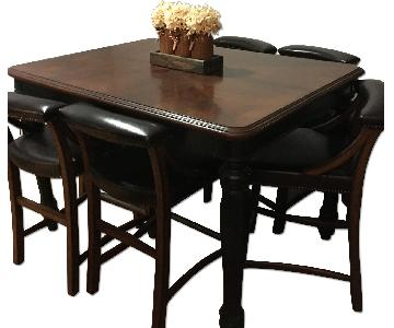 Ashley's Brown & Black 7 Piece Dining Room Set