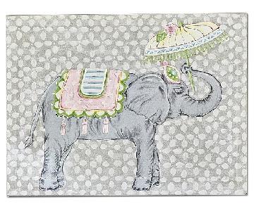 Pottery Barn Kids Elephant Parasol Art