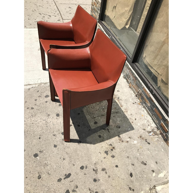Cassina Leather Mario Bellini s Cab Chairs AptDeco