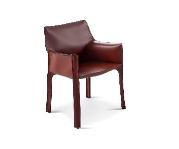 Cassina Leather Mario Bellini's Cab Chairs