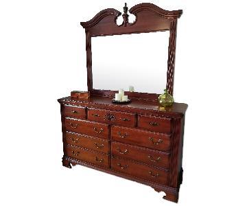Bob's 7 Drawer Solid Wood Dresser w/ Mirror