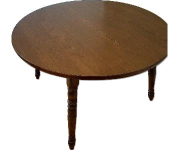 JB Van Sciver Co. Round Solid Wood Extendable Dining Table