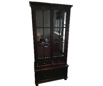 Crate & Barrel Bookcase w/ Storage