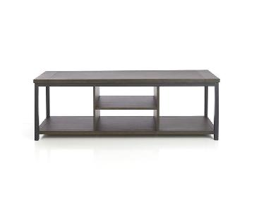 Crate & Barrel Wood TV Stand