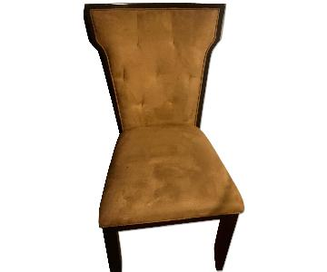 Raymour & Flanigan Suede & Wood Dining Chairs
