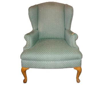 Queen Anne Wingback Arm Chair