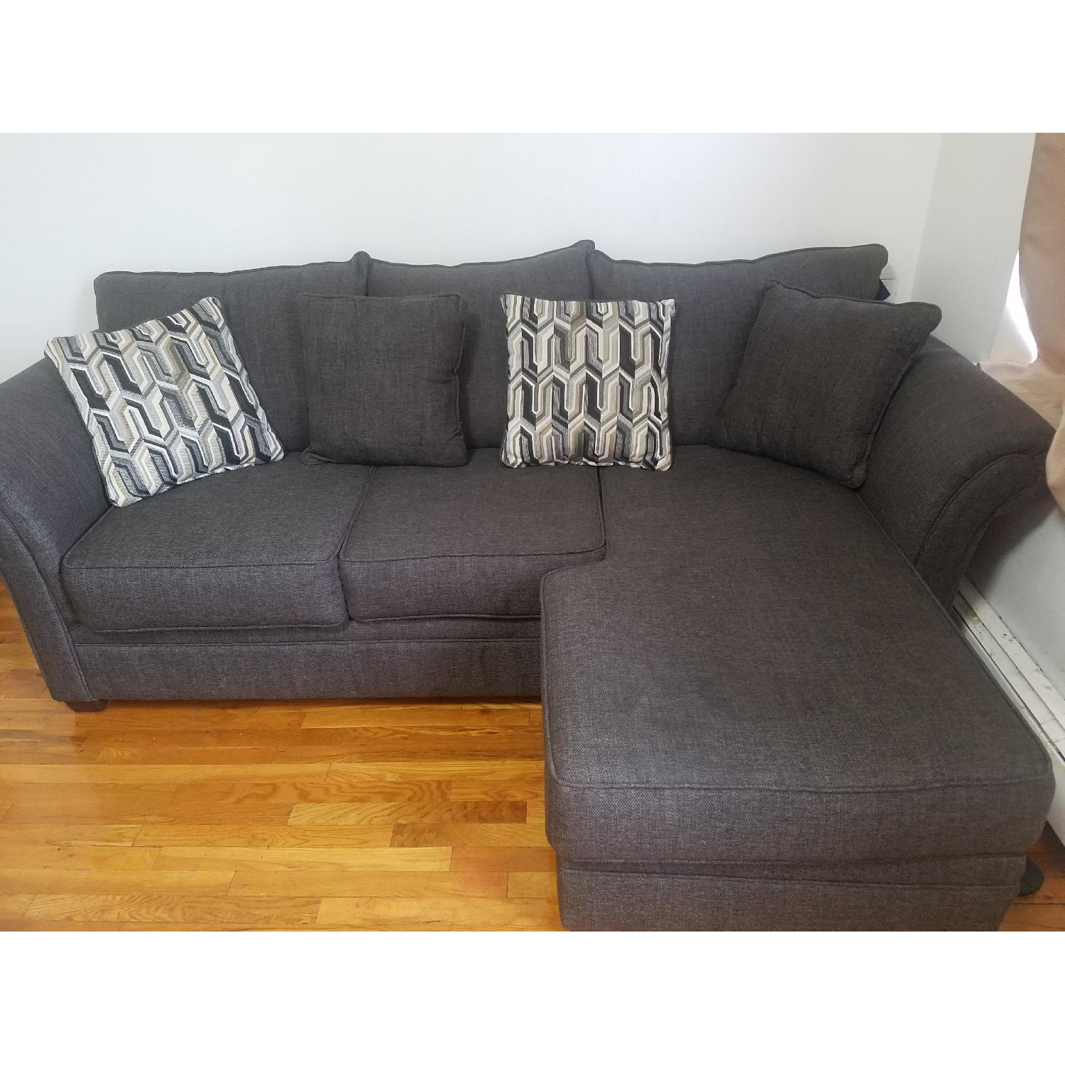 Serta Upholstery Grey Sectional Sofa; Serta Upholstery Grey Sectional  Sofa-0