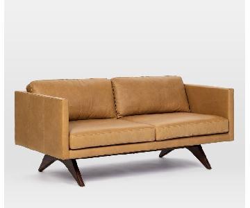 West Elm Brooklyn Leather Sofa in Sienna