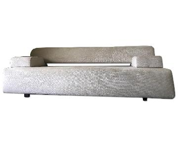 Convertible Sofa Bed on Ivory Fabric