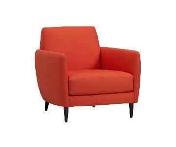 CB2 Parlour Chair Atomic in Blood Orange