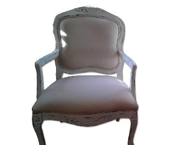 Raymour & Flanigan French Country Hand Painted Upholstered C