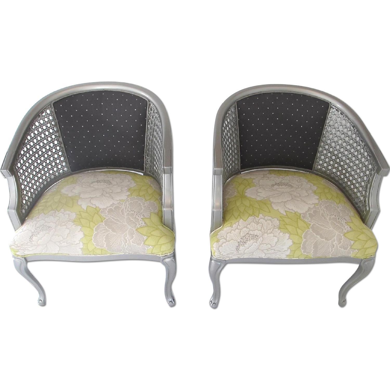 Osborne & Little Refurbished Vintage Queen Anne Style Club Chairs