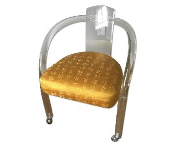 Vintage Lucite Rolling Chair